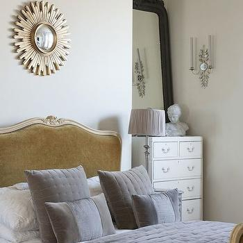 White and Gray Bedding, Transitional, bedroom