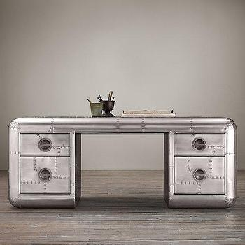 "Blackhawk 77"" Desk I Restoration Hardware"