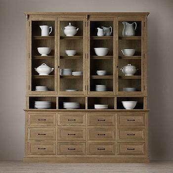 Storage Furniture - Apothecary Double-Door Sideboard & Glass Hutch I Restoration Hardware - apothecary sideboard, apothecary hutch, glass front apothecary hutch,