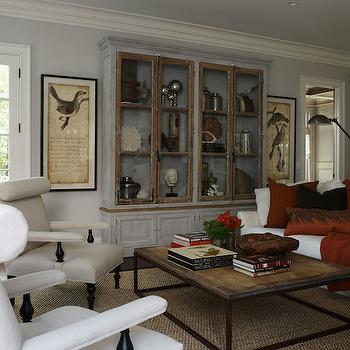 Glass Display Cabinets, Transitional, living room, Lillian August
