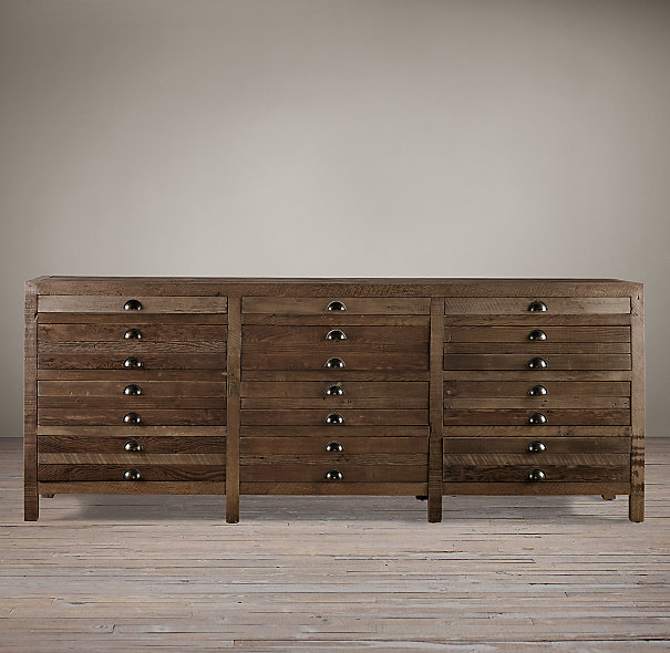 Restoration Hardware Printmakers Sideboard Look for Less