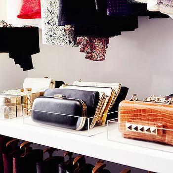 Purse Storage Ideas, Transitional, closet, Domaine Home