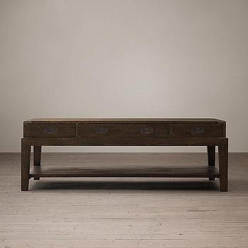 Warwick Campaign Coffee Table I Restoration Hardware