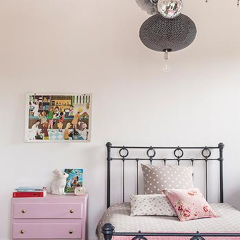 Pink Nightstand, Transitional, girl's room, Royal Roulotte