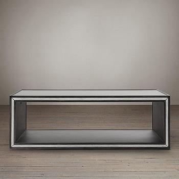 Strand Mirrored Coffee Table I Restoration Hardware