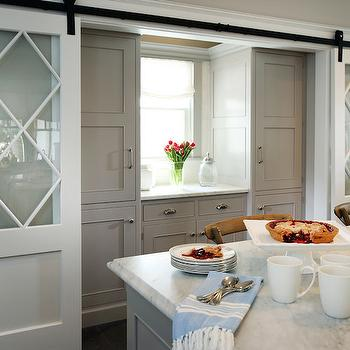 Pantry with Barn Doors, Transitional, kitchen, Beach Dwellings Interior