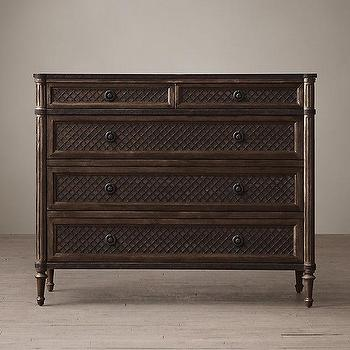 Louis XVI Treillage 5-Drawer Dresser I Restoration Hardware