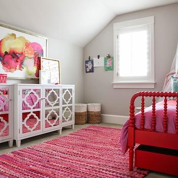 Kids Trundle Bed Contemporary Girl 39 S Room 6th Street