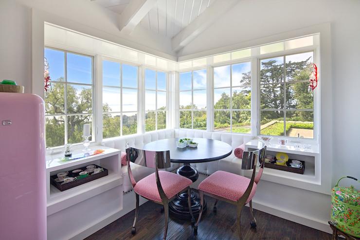 Window Seat Banquette Eclectic Kitchen Jessica Risko