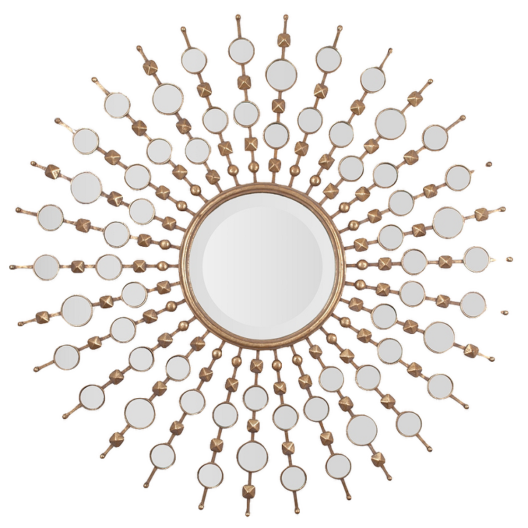 Gold Leaf Contemporary Sunburst Mirror Look for Less