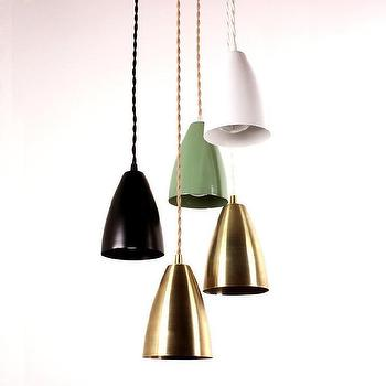 Lighting - Shaded pendant lamp I onefortythree - brass pendant lamp, modern brass pendant lamp, powder coated steel pendant lamp, white steel pendant lamp, green steel pendant lamp, black steel pendant lamp,