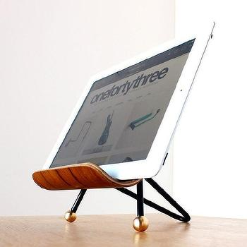 Decor/Accessories - iPad stand I onefortythree - mod ipad stand, mid century style ipad stand, molded plywood ipad stand,
