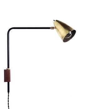Lighting - St. Germain swing lamp I onefortythree - swing arm wall lamp, black and brass wall lamp, swing arm lamp,  modern swing arm lamp,