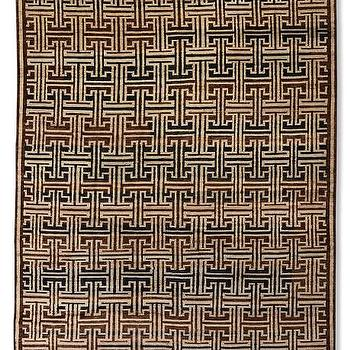 Bold Lattice Hand-Knotted Rug I WSHome