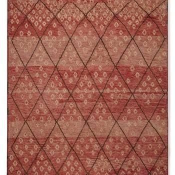 Hand-Knotted Moroccan Diamond Rug I WSHome