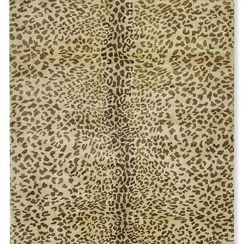 Hand-Knotted Leopard Rug I WSHome