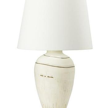 Lighting - Harper Table Lamp I WSHome - glazed white lamp, glazed stoneware lamp, hand glazed lamp,
