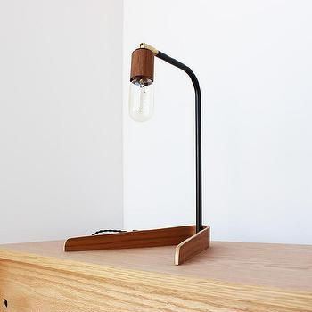 Lighting - Emerson light I onefortythree - bent plywood lamp, modern plywood lamp, plywood and steel lamp,