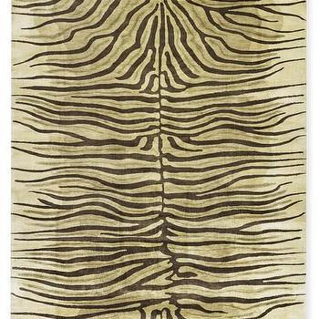 Rugs - Hand-Knotted Zebra Rug I WSHome - zebra rug, wool zebra rug, zebra print rug,