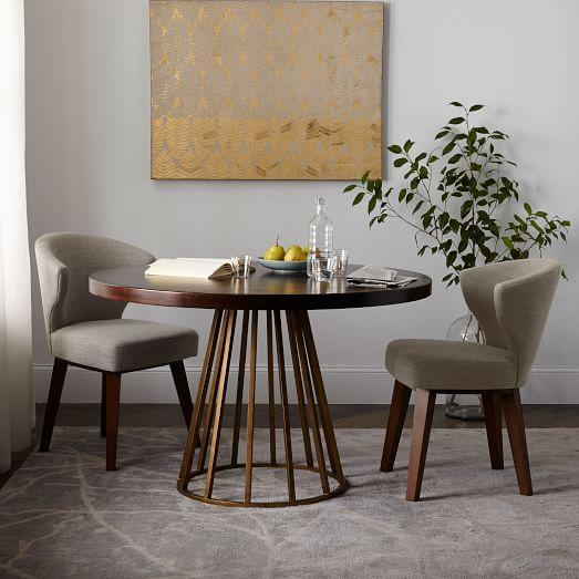 West Elm Dining Tables : Table I West Elm - modern brass dining table, brass based dining table ...