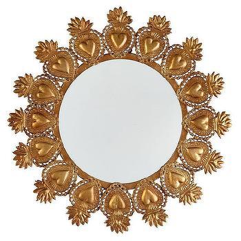Sacred Heart Mirror I Wisteria
