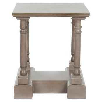 Tables - Safavieh Bella End Table I Target - turned leg end table, gray end table, gray square end table,