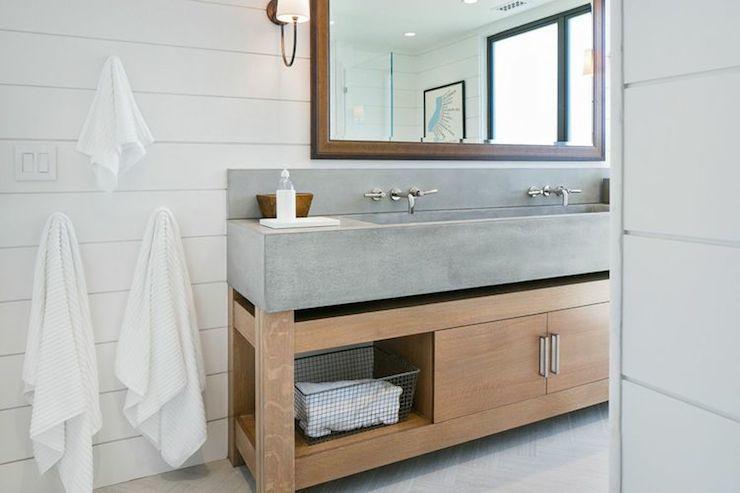 Concrete Sink Cottage Bathroom Kelly Nutt Design