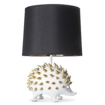 Lighting - Room 365 Hedgehog Figural Table Lamp I Target - white and gold hedgehog lamp, hedgehog lamp, modern hedgehog lamp,