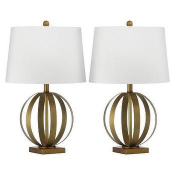 Lighting - Safavieh Euginia Sphere Table Lamp - Gold/White I Target - gold sphere lamp, gold orb lamp, gold transitional lamp,