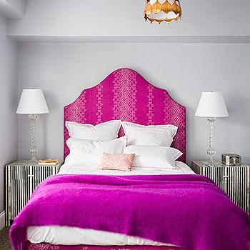 Pink and Gray Bedrooms, Contemporary, bedroom, Farrow and Ball Pavillion Gray