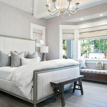 White and Grey Bedrooms, Transitional, bedroom, Kelly Nutt Design