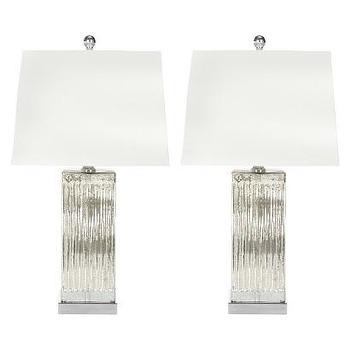 Lighting - Safavieh Rock Crystal Table Lamp - White (Set of 2) I Target - silver rectangular lamp, mercury glass lamp, modern silver lamp,