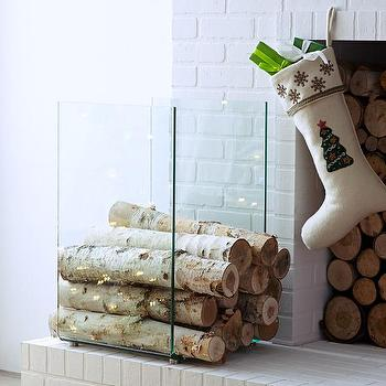 Modern Firewood Holder I Wisteria