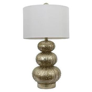 Lighting - Silver Leaf Stacked Sea Urchin Lamp - White Shade I Target - silver sea urchin lamp, sea urchin lamp, stacked sea urchin lamp,
