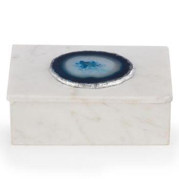 Decor/Accessories - Marble Box With Agate | Z Gallerie - agate topped box, marble and agate box, blue agate topped box, decorative agate box,