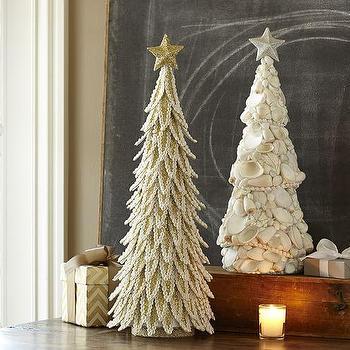 Miscellaneous - Coastal Shell Trees I Pottery Barn - seashell trees, seashell christmas decor, beachy christmas decor, coastal shell tree,