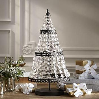 Miscellaneous - Faceted Crystal Tree I Pottery Barn - crystal christmas tree, crystal beaded christmas tree, crystal christmas decor, chandelier style christmas tree,