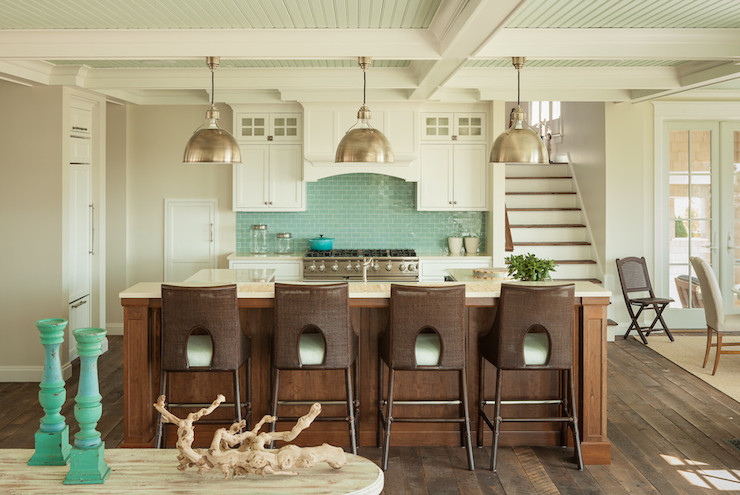 Blue And Brown Kitchens Cottage Kitchen JS Interiors