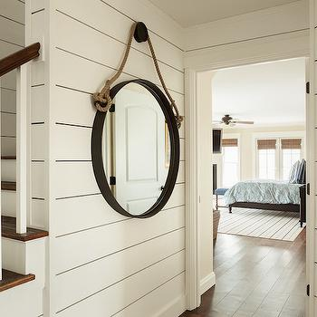 Rope Captains Mirror, Cottage, entrance/foyer, JS Interiors