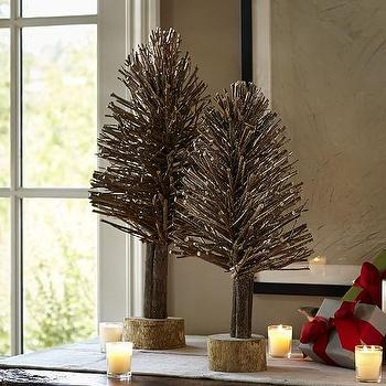 Miscellaneous - Gold Twig Trees I Pottery Barn - twig trees, gold twig trees, twig christmas tree,