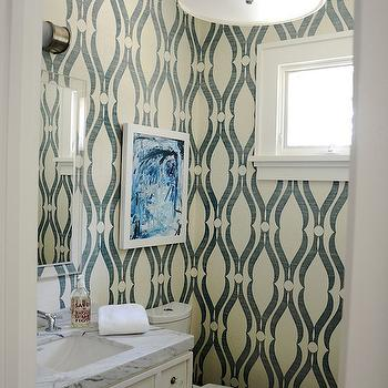 Phillip Jeffries Arches Wallpaper, Contemporary, bathroom, D2 Interieurs