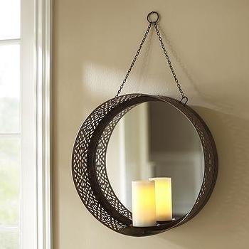 Wall Mounted Mirrored Pillar Holder I Pottery Barn