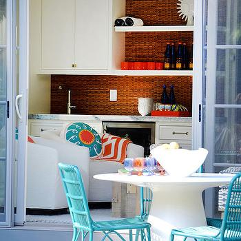 Turquoise Outdoor Chairs, Contemporary, deck/patio, D2 Interieurs