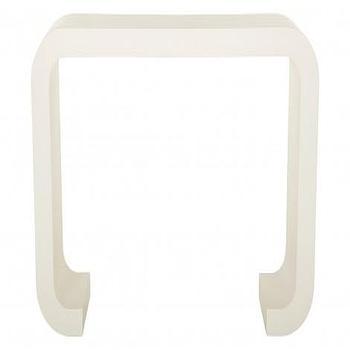 Tables - Maison Console I Jayson Home - white lacquered console table, white asian console table, modern asian console table, glossy white console table,
