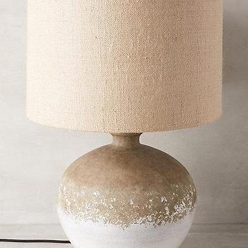 Lighting - Aliso Lamp Ensemble I Anthropologie - white dipped lamp, white earthenware lamp, dipped earthenware lamp, dipped lamp,