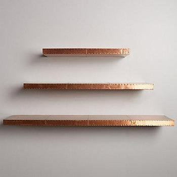 Burnished Metal Floating Shelf I Anthropologie