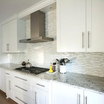 Bianco Romano Granite, Contemporary, kitchen, Benjamin Moore Woodlawn Blue, Mandy Brown Architects