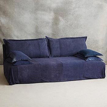 Reverse-Dyed Batik Sofa I Anthropologie