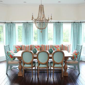 Aqua Dining Rooms, Contemporary, dining room, Colordrunk Design