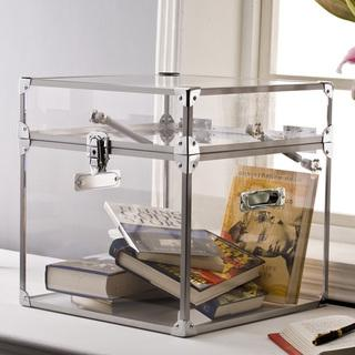 Pure Decor Clear Acrylic Trunk, Overstock.com
